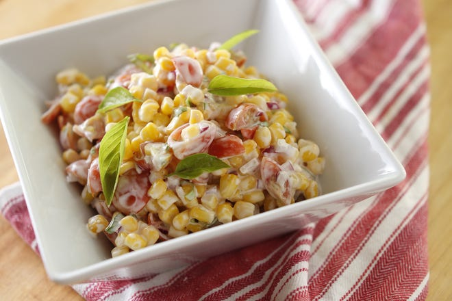 Corn salad is one of the many dishes you can make with a bag of frozen corn.