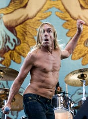 Iggy Pop led The Stooges into Tom Lee Park for a wild music fest set in 2007.  (Iggy Pop is pictured during a 2008 concert with The Stooges in England.)