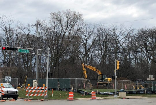 Construction work has begun on the new Dunkin' Donuts restaurant at 76th Street and Cold Spring Road in Greenfield. The developer is targeting a late August opening.