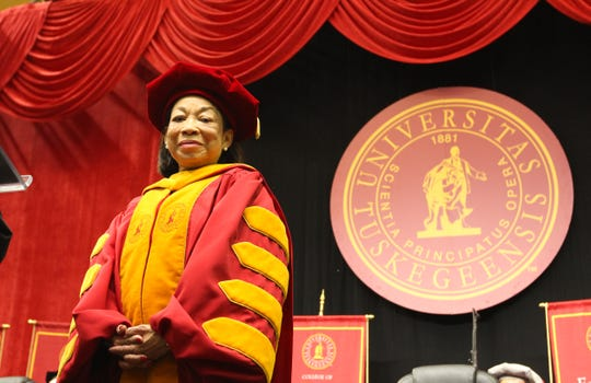 Tuskegee President Lily McNair will resume full-time duties on May 15.