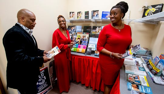 Reclamation Center of Alabama CFO Orlando Anderson, from left, CEO Amy Anderson and Executive Director Amy Perry at the office in Montgomery, Ala., on Thursday April 30, 2020.