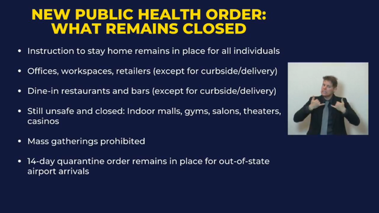 Relaxed health guidelines under New Mexico's new public health order.