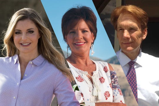 GOP candidates for US House for New Mexico, Claire Chase, Yvette Herrell and Chris Mathys