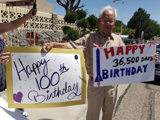 Stanley Infante turned 100 years old Saturday, April 25, 2020.