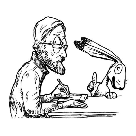 Self-portrait of artist Bob Diven