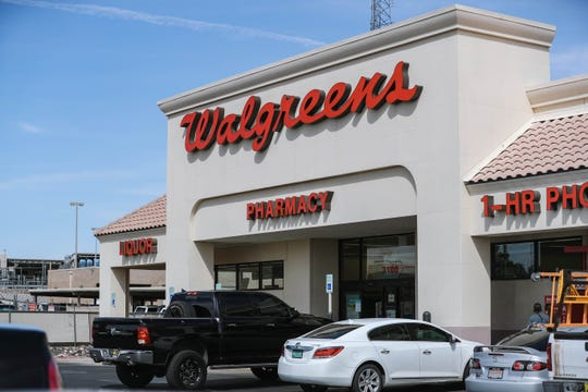 Walgreens on Main Street and Triviz Drive is pictured in Las Cruces on Thursday, April 30, 2020.