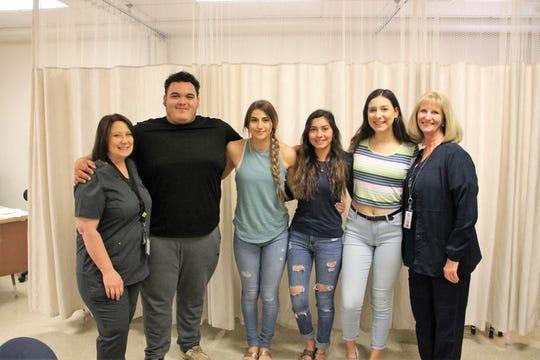 The AHS HOSA team and teachers on March 11, 2020.   From left are Darlene Mellen, Isaac Duarte, Kylie Williams, Ashley Evans, Ella Dean and Kristine Loeffelbein