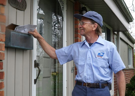 Ron Bruff has been delivering mail in the Livonia area for 34 years. He's retiring soon and hanging up the ol' mailbag.