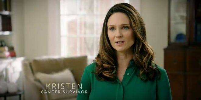 Kristen Douglas, a former aide for Sen. Martha McSally, appears in the senator's new TV ad.