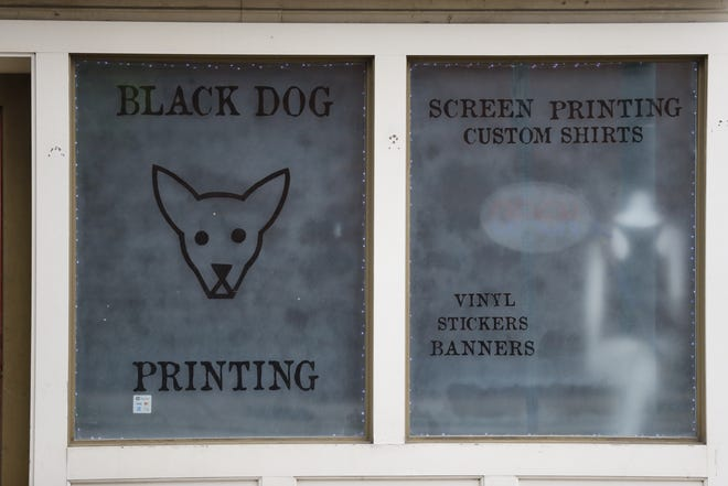 Black Dog Printing at 12 N Ninth St. has helped raise nearly $10,000 for local businesses impacted by COVID-19.