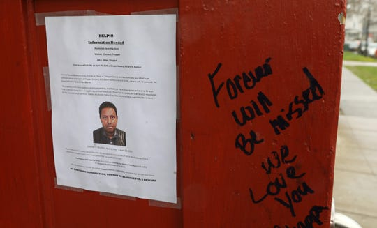 A memorial has been growing for 34-year-old Chernet Tiruneh who was shot and killed while working at Chappa Grocery Store on Grande Ave. Tuesday night, April 28. By Thursday, April 30, the memorial had grown to dozens of candles, flowers and dozens of messages written on the steps and siding of the shop.