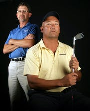 Former Coronado boys golf coach and former Coronado and UTEP football player Robert Pounds, forefront, died on Tuesday night in El Paso.
