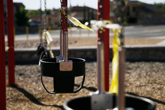 Despite the lifting of the stay-at-home order, city of El Paso parks will remain closed except for walking on designated walking paths. Playgrounds, tennis courts and basketball courts will also stay closed.