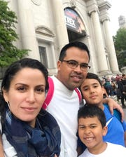 Barbara Castaneda with her husband Jonnatan and two sons Santiago, right, and Alejandro.