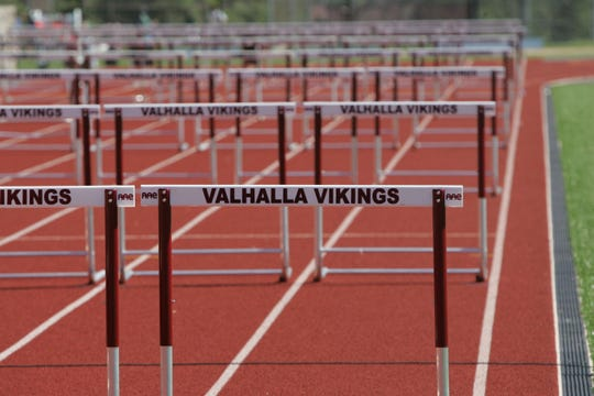 The track at Valhalla High School was named in honor of Nick Modugno, a longtime coach and teacher at the school who died this week from complications of COVID-19.
