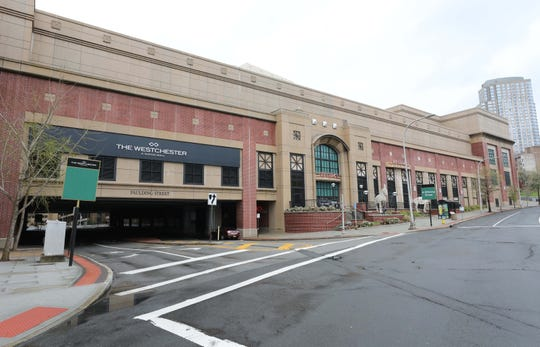 The exterior of The Westchester mall in White Plains, April 30, 2020.