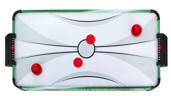 This air hockey table is super portable and on sale.