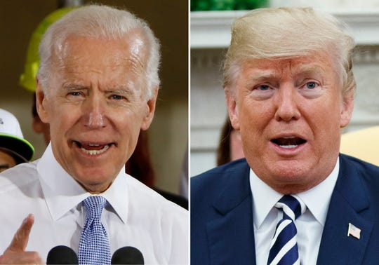 Former Vice President Joe Biden and President Donald Trump