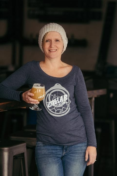 Emma Whelan has had to adjust her business to survive. Astro Lab Brewing in Silver Spring, Maryland, went from filling glasses and pouring pints to offering cans of beer to go.