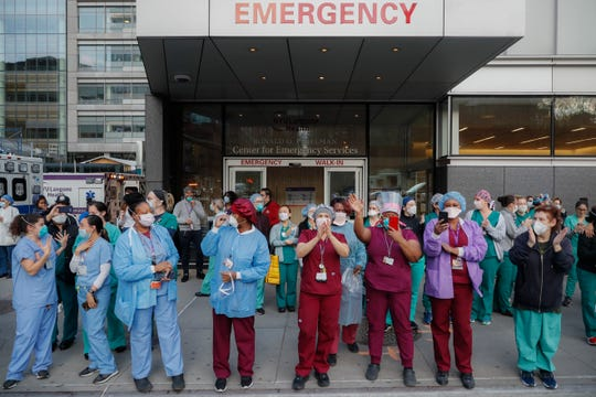 Outside NYU Langone Medical Center in New York City on April 28, 2020.