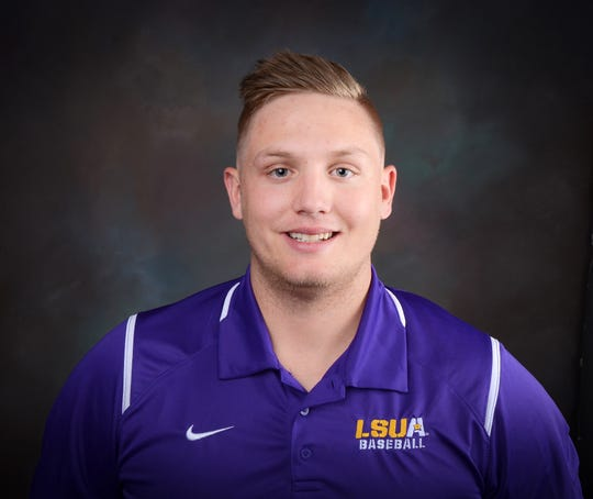 Louisiana State University of Alexandria May graduate and basrball player, Kris Tamplet, is still suiting up in uniform. This spring, the uniform he is donning is that of the Walker Police Department.