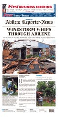 The front page of the May 19, 2019 Abilene Reporter-News.