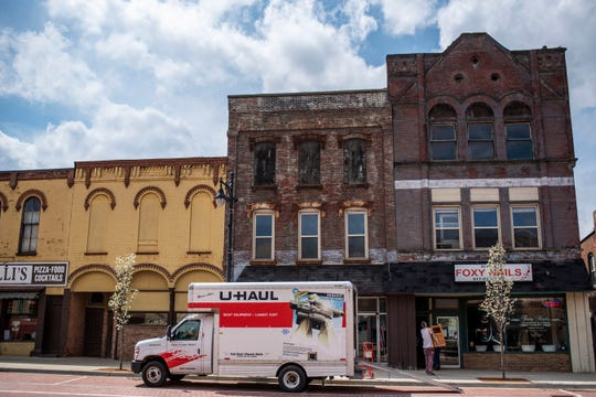 Spring arrives in downtown Albion, Mich. on Wednesday, April 28, 2020. Albion Reinvestment Corporation is still pursing and planning for the Big Albion Plan amid the coronavirus pandemic.