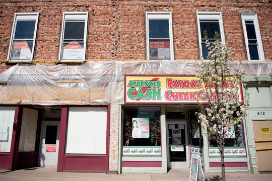 Spring arrives in downtown Albion, Mich. on  Friday, May 1, 2020. The Albion Reinvestment Corporation is hopeful to complete the Brick Street Loft Project amid pandemic.