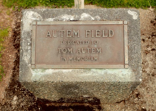 Tom Autem plaque at North Kitsap High School on Friday, May 1, 2020.