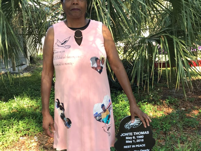 Three years after his death, the family of Jonte Thomas erected a memorial in the spot where he was shot on Pineda Street in Cocoa.
