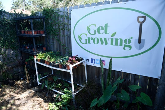 Leo Ruiz, who gardened as a hobby, now sells plants, as seen Thursday, April 30, 2020. The garden started out as peppers and herbs and has grown to include green vegetables and chickens.