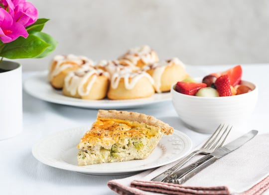 Iron Hill Brewery's Brunch-to-Go includes quiche, cinnamon rolls and strawberries for Mother's Day takeout.