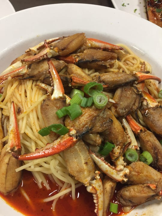 Blue claw crabfingers is a signature dish at Merighi's Savoy restaurant its Luna Bar and Grille in East Vineland that can be ordered for Mother's Day takeout.