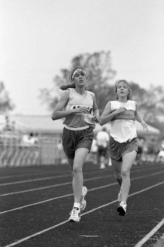 Adena's Angel Hardiesty, left, became the first freshman to win medalist honors since 1987. Unioto girls scored 102 points to capture its second straight Scioto Valley Conference in May 1996. Adena finished second with 101 points. Westfall won the SVC boys meet.