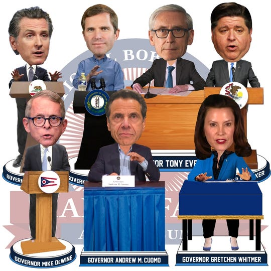 The National Bobblehead Hall of Fame and Museum created bobbleads of some state governors.