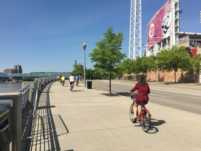 The Ohio River Trail is a great place to exercise and enjoy National Bike Month.