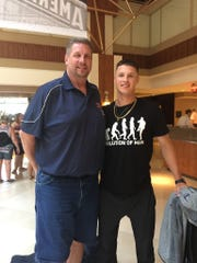 Tigers pitching prospect Matt Manning, right, and his father Rich.