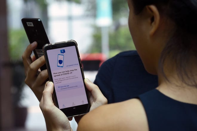 Singapore's new contact-tracing smartphone app TraceTogether is a preventive measure against the coronavirus.
