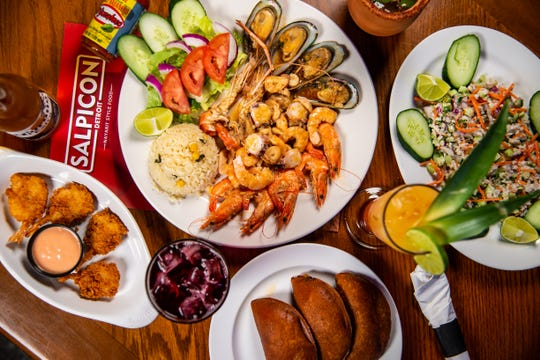 Mexican seafood restaurant El Salpicon is open for carryout on Tuesday for Cinco de Mayo.
