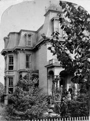 A view of the Assauer home in 1877, corner of Pennsylvania and Spaulding Streets. Image courtesy of the author.