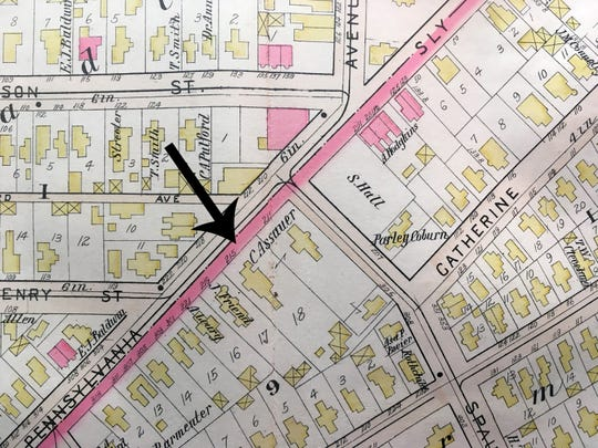 A map of the area dated 1896.