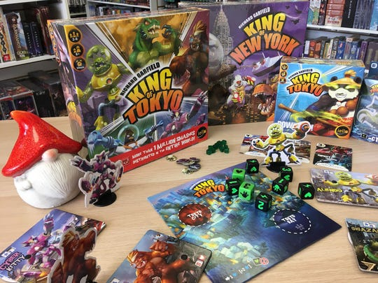 """Gnome Games Owner Pat Fuge describes """"King of Tokyo"""" as """"combat Yahtzee."""""""