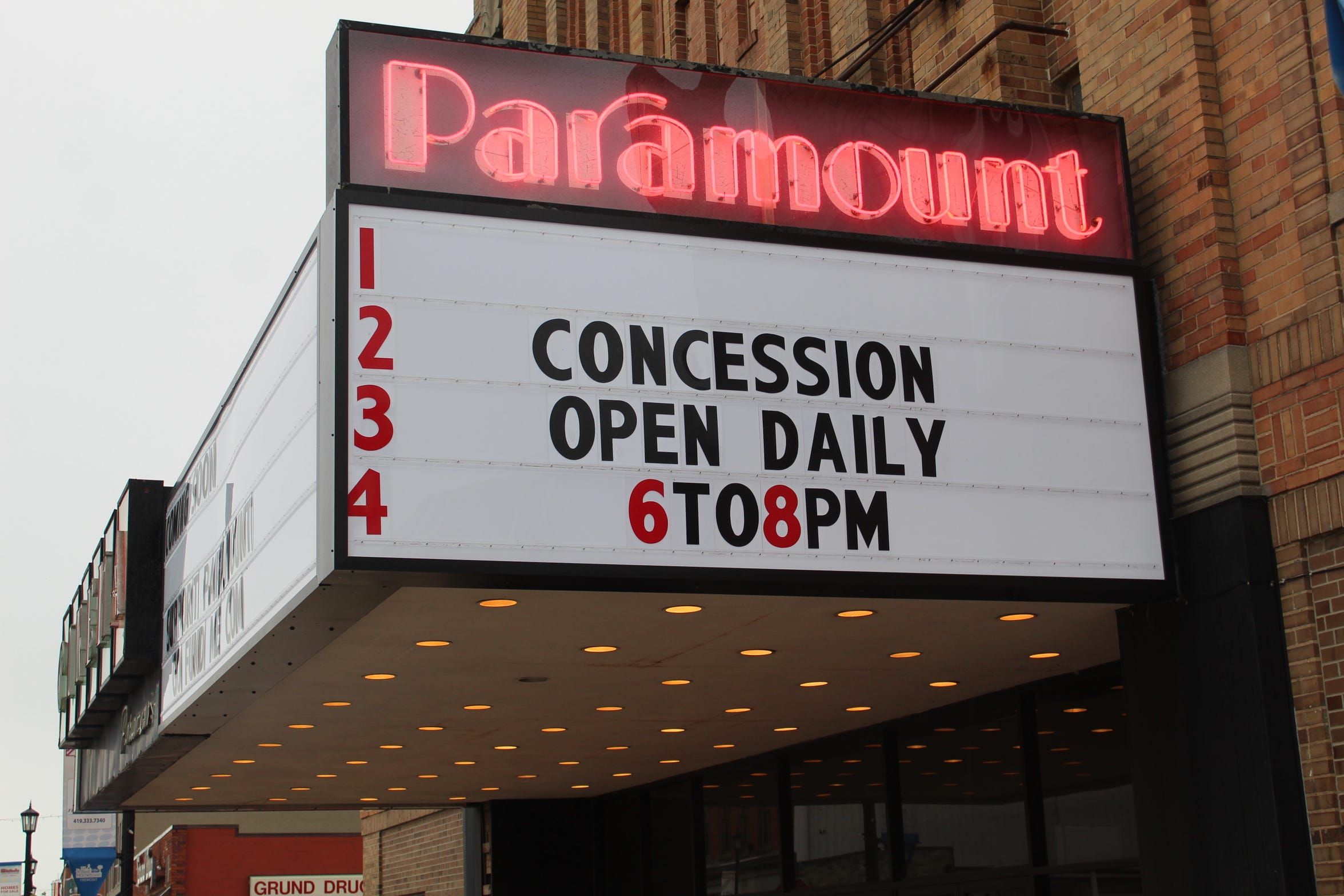 Paramount Cinema in downtown Fremont is keeping its concession stand open two hours a night for residents that want to purchase popcorn and candy, said Kristie Bilger, Downtown Fremont, Inc.'s executive director.