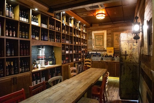 The private tasting room at Barley's Taproom and Pizzeria.