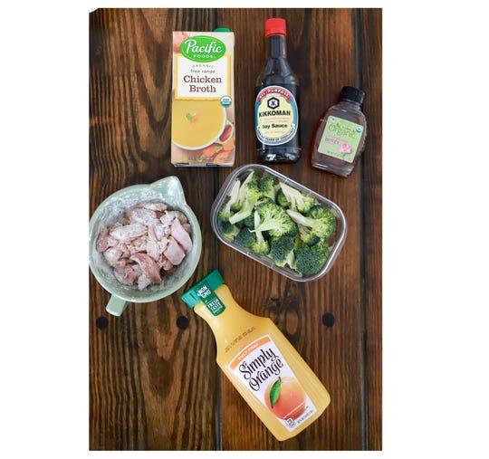 Ingredients for Orange Ginger Chicken
