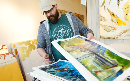 """Local artist Joseph Bradley, who was a participant in a recent Artisphere, talks about the illustrations he created for a children's book called """"Goodnight Greenville,"""" written by Dr. Joe Maurer."""
