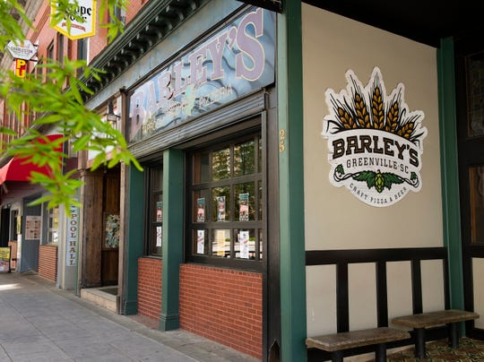 Barley's Taproom and Pizzeria on Washington Street in Downtown Greenville.