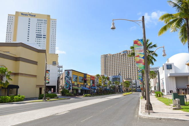 The empty streets of Tumon's Pleasure Island during the COVID-19 pandemic, May 1, 2020.