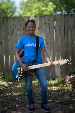 Memphis' 12-year old Deonna Horton is in remission after having a brain tumor removed two years ago. The Make a Wish Foundation granted her wish of having a blue electric guitar. Music, hope and pray are what she says got her through the experience.