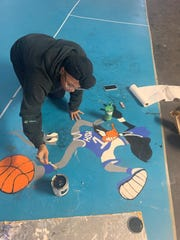 Local artists painted and airbrushed murals for Healing Starts Here Intervention Services, a mentorship program in Humboldt.